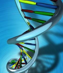 Discreet Testing - Conceptual Illustration of a DNA molecule